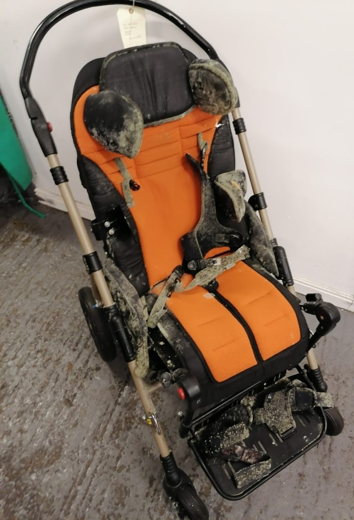 Equipment prior to full decontamination, reconditioning and refurbishment