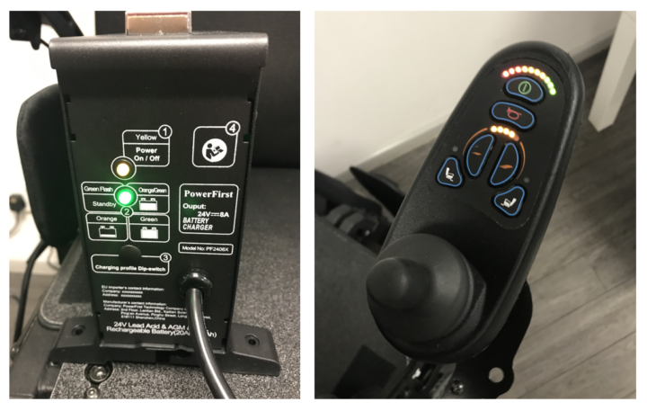 Power chair controller & battery charger