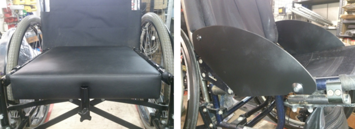 drop in seat board and armrest modifications